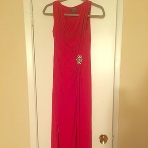 Floor length red dress. Only worn once.